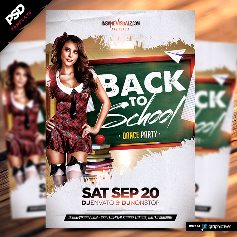back to school dance party flyer dope s back to school dance party flyer