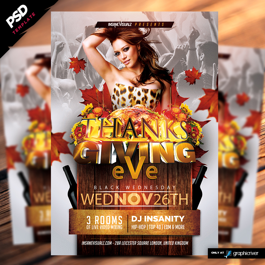 Thanksgiving Eve Flyer Template - Dope Downloads
