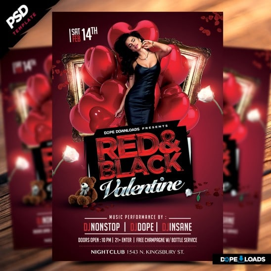 Red & Back Valentine Flyer