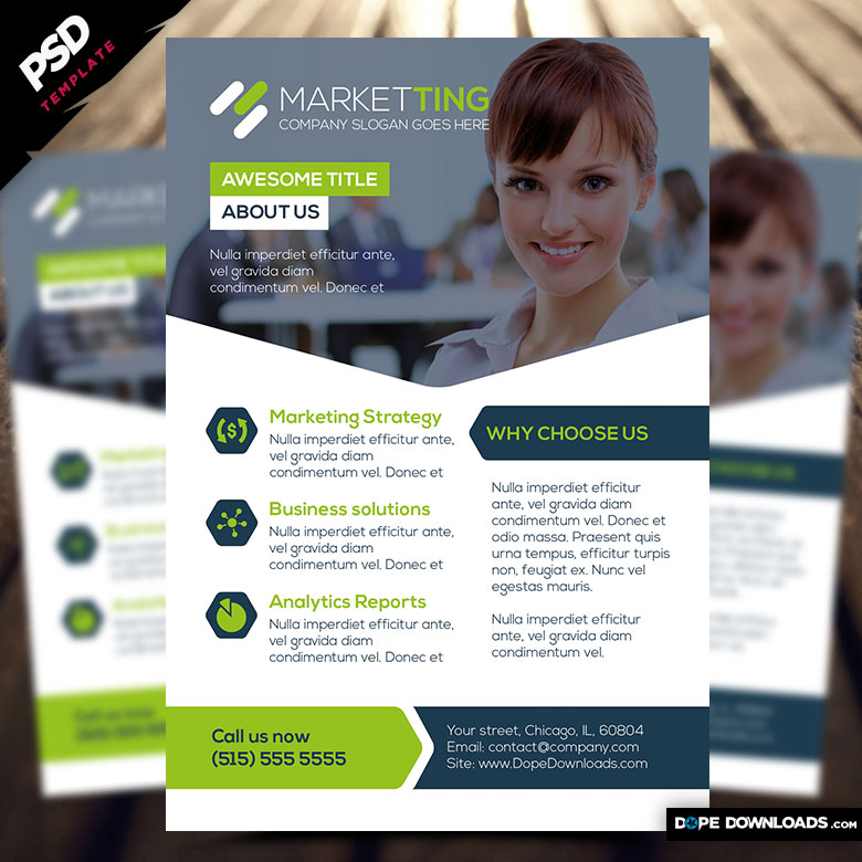 Marketing Flyer Template  Dope Downloads