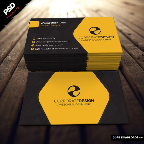 Construction Business Card design