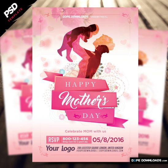 Mother's Day Flyer PSD Template