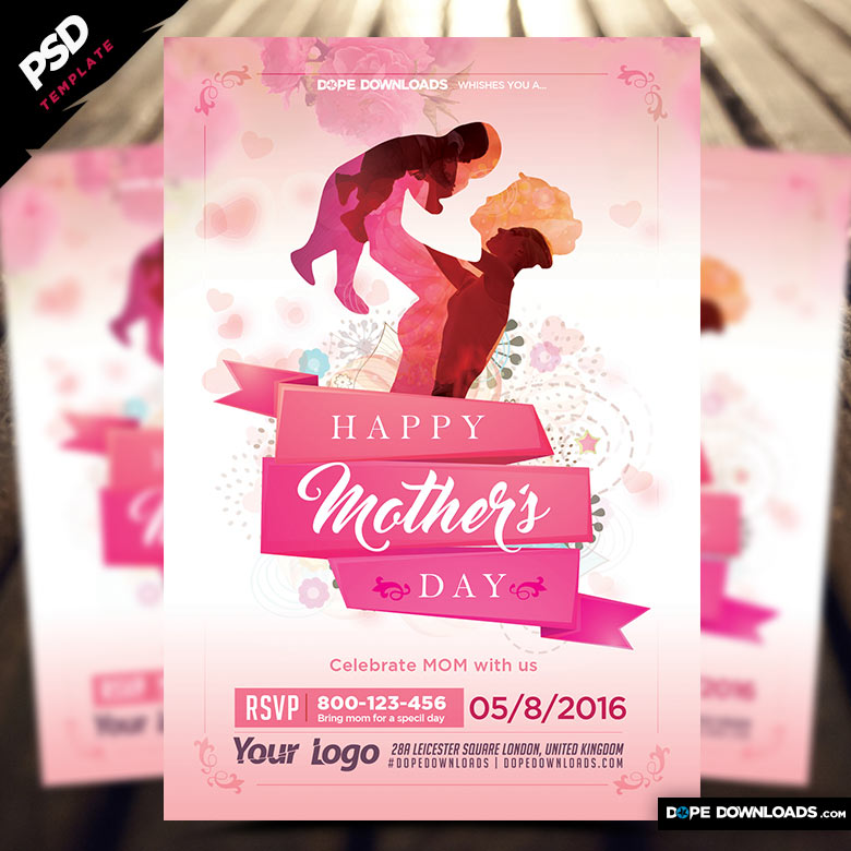 MotherS Day Flyer Template  Dope Downloads