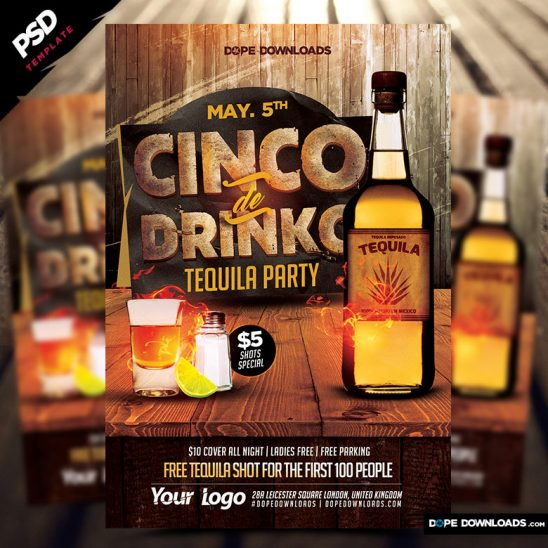 Cinco De Drinko Flyer Template