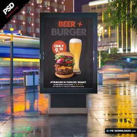 Beer and Burger Ad Template