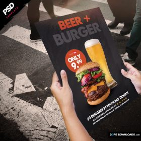 Beer and Burger Poster Template