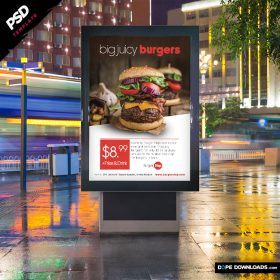 Burgers Street Ad Template