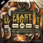 Thanksgiving Feast Night Flyer Template