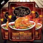 Happy Thanksgiving 2016 Flyer Template