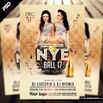 NYE Ball 17 Flyer Template